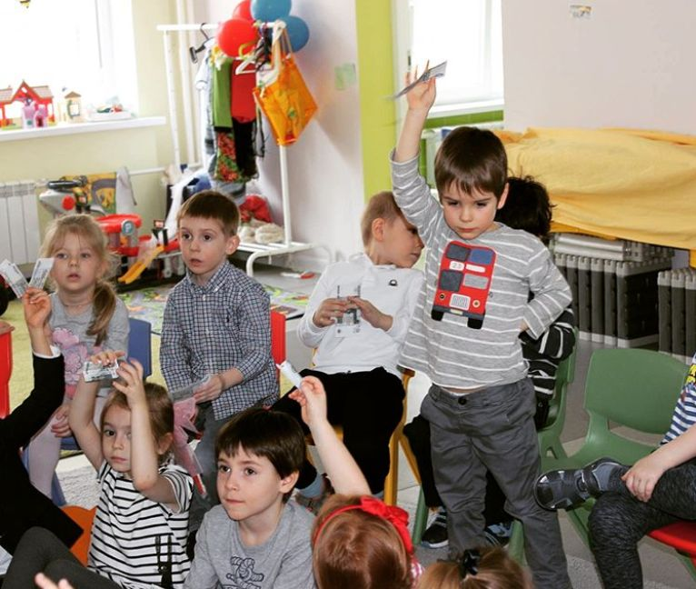 English day at kindergarten in Moscow