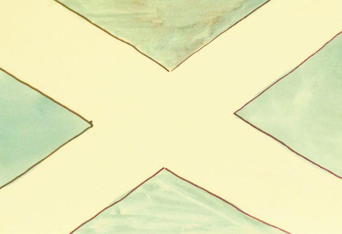 Флаг Шотландии, выполненный учениками